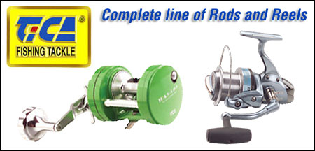 Tica reels, rods, lures, line