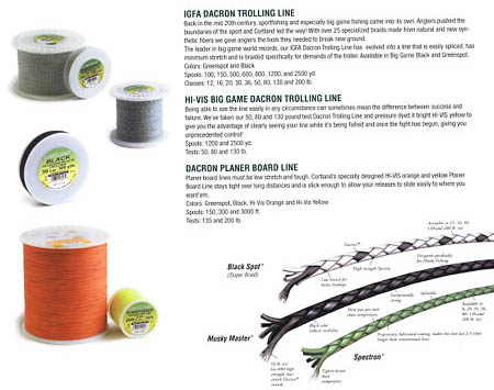 Cortland fishing line for Dacron fishing line