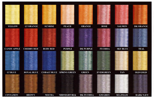 RodSmith Nylon Thread colors