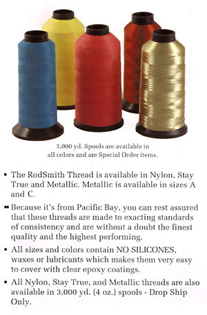 Rodsmith Thread - Nylon, Stay True, Metallic